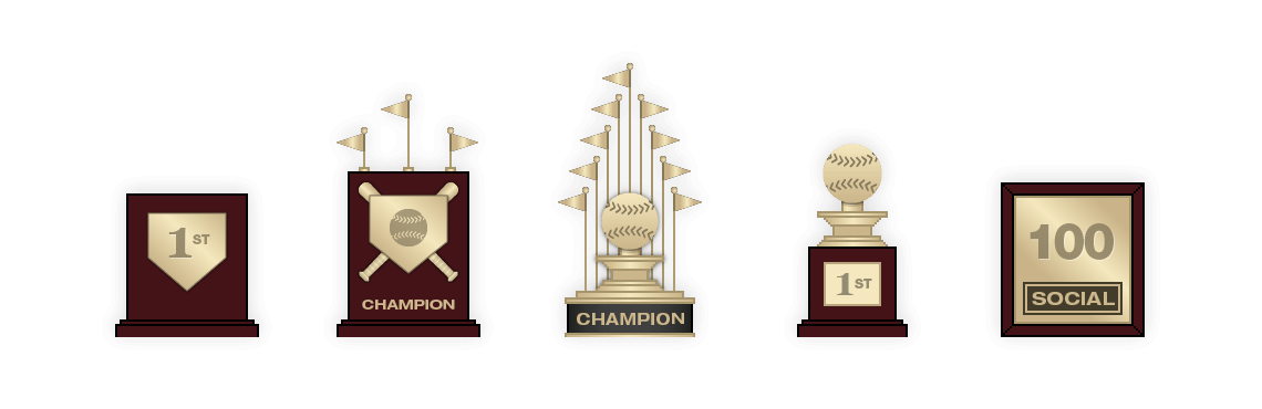 Bloomberg Sports Fantasy Baseball Trophies
